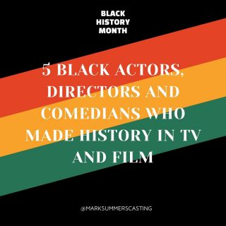 In honor of Black History Month, Mark Summers Casting is celebrating some of the pioneers who made history in TV and film. 👏🏼⚡️  #blackhistorymonth #marksummerscasting