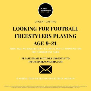 *URGENT CASTING*   Contact info@marksummers.com to apply - CASTING WILL TAKE PLACE THIS WEEKEND IN LONDON ⚡️   #marksummers #marksummerscasting