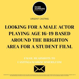 ⚡️ URGENT CASTING ⚡️  EMAIL HEADSHOTS TO: CASTING@MARKSUMMERS.COM 🤳🏼