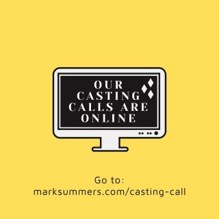 Interested in applying for our most recent casting calls? Head over to our website https://marksummers.com to check them out and apply ⚡️