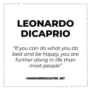 Monday again! How are all our UK folk holding up in lockdown? Here is a bit of motivation for the start to your week from @leonardodicaprio 🤍❤️• #casting #motivation #love #london #marksummers #quote #castingcall #castingdirector