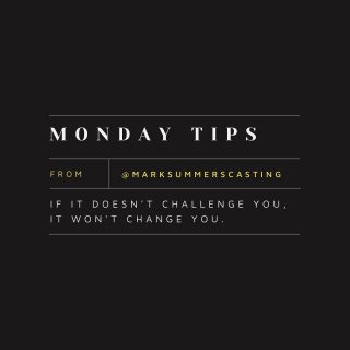 Happy Monday Insta. Motivational tips from the team at Mark Summers casting.   #marksummerscasting #tips #motivation #casting #mondays
