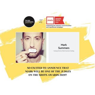 So excited to announce that @marksummerscd will be one of the judges on the @shots_creative awards 2021 🙌🏼⚡️ Congratulations Mark!!👏🏼  #marksummerscasting