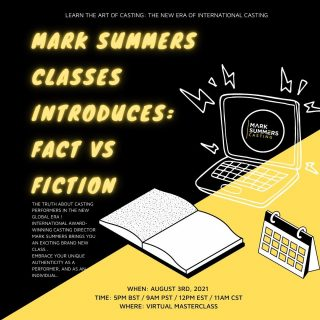 Join us for our next class: Fact vs. Fiction ⚡️   For all info on what this brand new class includes and to book - visit our website our click the link in our bio 🤳🏼⚡️  #marksummersclasses #marksummerscasting #classes #masterclass