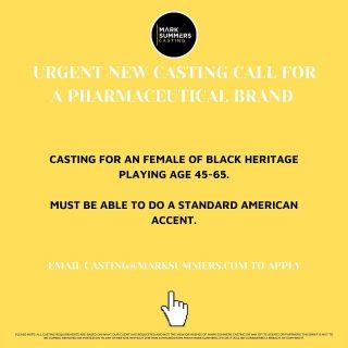 *URGENT CASTING* Email casting@marksummers.com 👏🏼⚡️