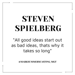 Here's a fab Monday quote for you from the man himself! What's everyone's week looking like? 🎥• #love #london #casting #castingdirector #marksummers #quote #motivational