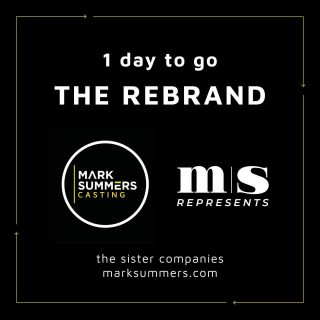 Just one day to go!!  Website Launch day is nearly here! Be sure to give our sister company @msrepresents a follow!  #rebrand #countdown #casting #management