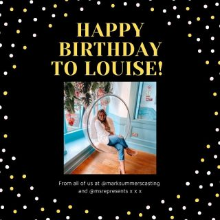 Happy birthday to our @loulou_mason 🤍⚡️✨   Wishing you the best day from all of us at @marksummerscasting and @msrepresents 🤍