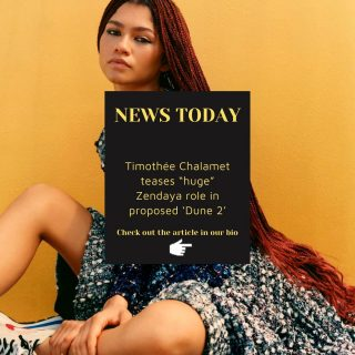 """⚡️INDUSTRY NEWS TODAY⚡️  Timothée Chalamet teases """"huge"""" Zendaya role in proposed 'Dune 2'. Click the link in our bio to read the full article and leave your comments below! 🙌  For more industry news follow our social networks!  #marksummerscasting #marksummers #castingdirectors"""